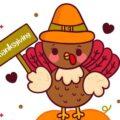 感謝祭と七面鳥イメージ図 イラスト From Freepik
